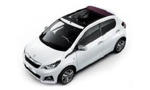 Peugeot 108 OPEN TOP rent a car